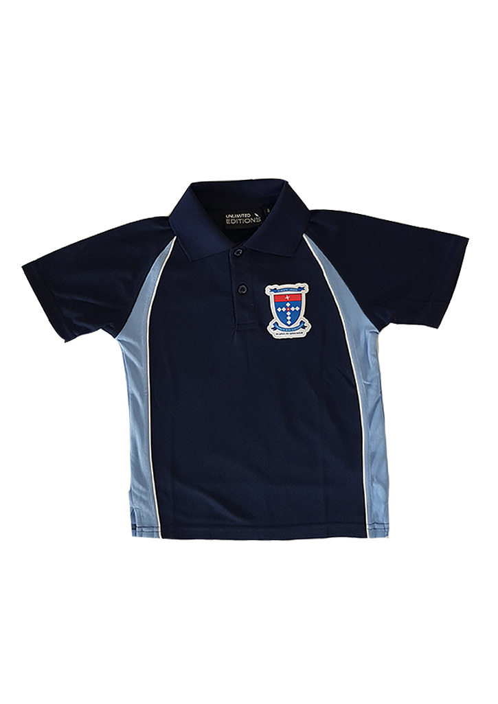 St Joseph's School (Orakei) Polo Navy/Ice Blue - Adults