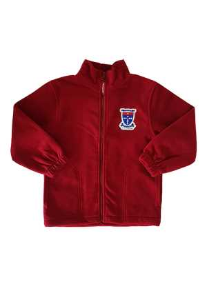 St Joseph's (Orakei) Full Zip Kids Fleece Red